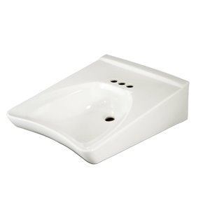 TOTO Wall-Mount Bathroom Sink - 20.5-in - Cotton White