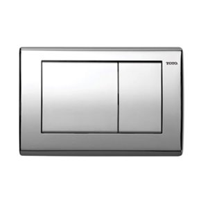 TOTO Convex Push Plate for In-Wall Tank System - Stainless Steel