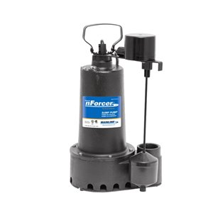 nForcer Submersible Sump Pump - 1/2 HP - Cast Iron