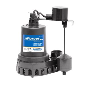nForcer Thermoplastic Sump Pump - 1/3 HP - Cast Iron