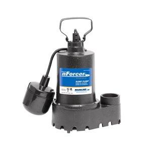 nForcer Sump Pump - 1/3 HP - Cast Iron