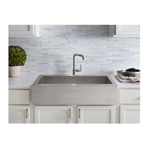 KOHLER Vault Apron Front Top Mount Sink with Single Faucet ...