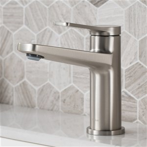 KRAUS Indy 1-Handle Bathroom Faucet and Pop-Up - Stainless Steel