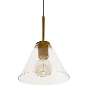 Dainolite Roswell Pendant Light - 1-Light - 9-in x 10.5-in - Aged Brass