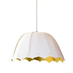 Dainolite Noa Pendant Light - 1-Light - 15-in x 7.5-in - White