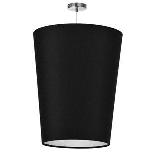 Dainolite Paisley Pendant Light - 1-Light - 20-in x 26-in - Polished Chrome/Black