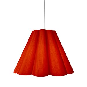 Dainolite Kendra Pendant Light - 4-Light - 33-in x 25-in - Polished Chrome/Red