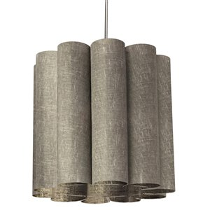 Dainolite Sandra Pendant Light - 1-Light - 19-in x 18-in - Polished Chrome/Grey