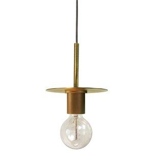 Dainolite Roswell Pendant Light - 1-Light - 8-in x 6.5-in - Aged Brass