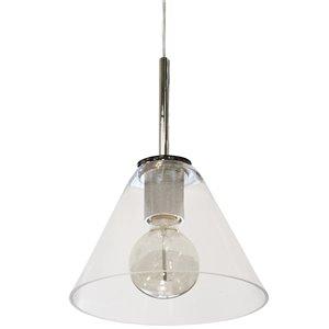 Dainolite Roswell Pendant Light - 1-Light - 9-in x 10.5-in - Polished Chrome