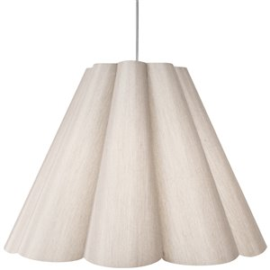 Dainolite Kendra Pendant Light - 4-Light - 47-in x 35.5-in - Polished Chrome/Beige