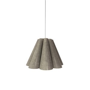 Dainolite Kendra Pendant Light - 1-Light - 19-in x 14.5-in - Polished Chrome/Grey