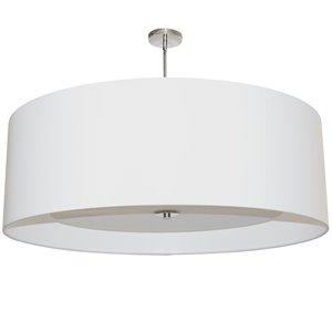 Dainolite Helena Pendant Light - 4-Light - 30-in x 20-in - Polished Chrome/White