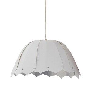 Dainolite Noa Pendant Light - 1-Light - 15-in x 7.5-in - Polished Chrome and White