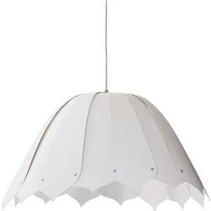 Dainolite Noa Pendant Light - 1-Light - 21-in x 10-in - Polished Chrome/White