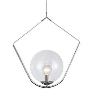 Dainolite Orion Pendant Light - 1-Light - 24-in x 29-in - Polished Chrome