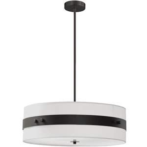 Dainolite Willshire Pendant Light - 4-Light - 22-in x 7-in - Matte Black