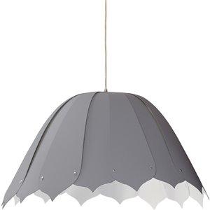 Dainolite Noa Pendant Light - 1-Light - 21-in x 10-in - Polished Chrome/Platinum Grey