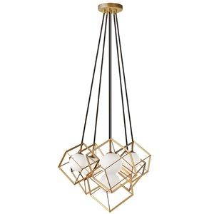 Dainolite Thomson Pendant Light - 6-Light - 13.75-in x 13.75-in - Gold