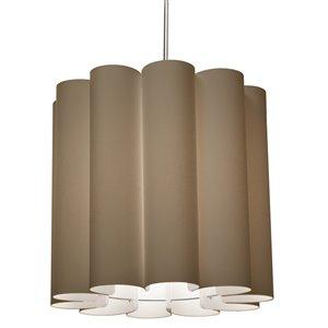 Dainolite Sandra Pendant Light - 1-Light - 19-in x 18-in - Polished Chrome/Gold