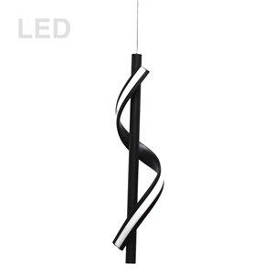 Dainolite Justine Pendant Light - 1-Light - 3.25-in x 17.75-in - Matte Black