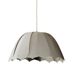 Dainolite Noa Pendant Light - 1-Light - 15-in x 7.5-in - Polished Chrome/Grey
