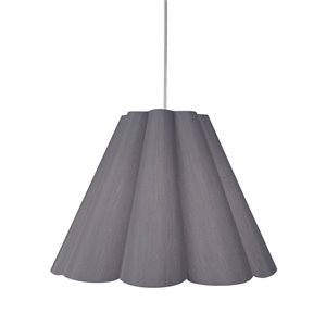 Dainolite Kendra Pendant Light - 4-Light - 33-in x 25-in - Polished Chrome/Platinum Grey