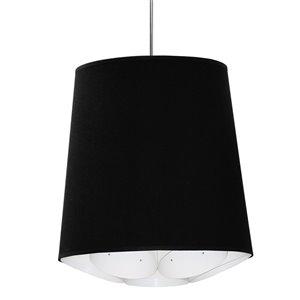 Dainolite Hadleigh Pendant Light - 1-Light - 20-in x 20-in - Polished Chrome/Black