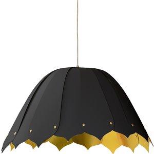 Dainolite Noa Pendant Light - 1-Light - 21-in x 10-in - Black