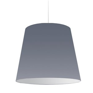 Dainolite Oversized Drum Pendant Light - 1-Light - 26-in x 21-in - Grey