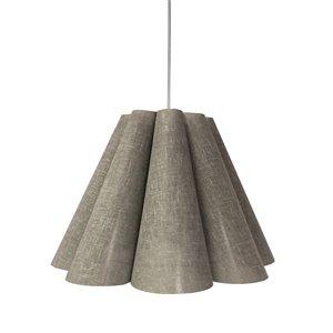 Dainolite Kendra Pendant Light - 4-Light - 33-in x 25-in - Polished Chrome/Grey