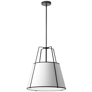 Dainolite Trapezoid Pendant Light - 3-Light - 24-in x 26-in - Matte Black