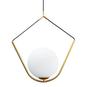 Dainolite Orion Pendant Light - 1-Light - 24-in x 29-in - Aged Brass