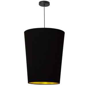 Dainolite Paisley Pendant Light - 1-Light - 16-in x 20-in - Black