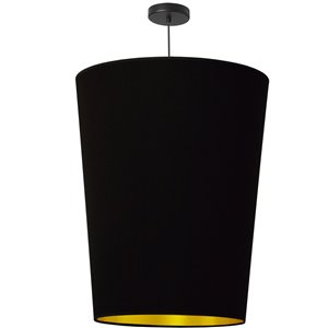 Dainolite Paisley Pendant Light - 1-Light - 20-in x 26-in - Black