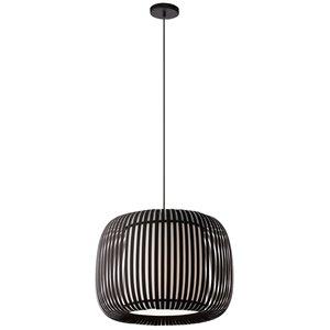 Dainolite Mia Pendant Light - 1-Light - 18-in x 15-in - Matte Black