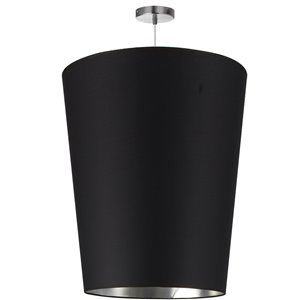 Dainolite Paisley Pendant Light - 1-Light - 20-in x 26-in - Polished Chrome/Black/Silver