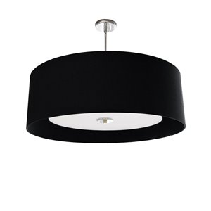 Dainolite Helena Pendant Light - 4-Light - 22-in x 10-in - Polished Chrome/Black