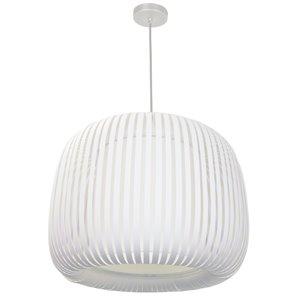 Dainolite Mia Pendant Light - 1-Light - 18-in x 15-in - Matte White