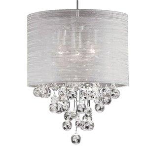 Dainolite Tahnee Pendant Light - 3-Light - 15-in x 18.3-in - Polished Chrome
