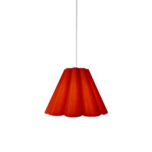 Dainolite Kendra Pendant Light - 1-Light - 19-in x 14.5-in - Polished Chrome/Red