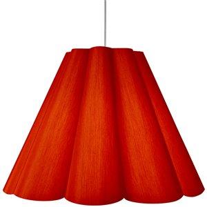 Dainolite Kendra Pendant Light - 4-Light - 47-in x 35.5-in - Polished Chrome/Red