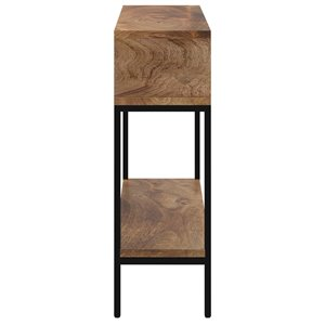 !nspire Solid Wood and Metal Console Table with storage - Black - 10-in x 42-in x 32-in
