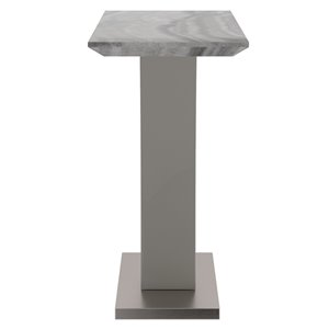 !nspire Contemporary Faux Marble Coffee Table - gray - 15.75-in x 42.25-in x 30.25-in