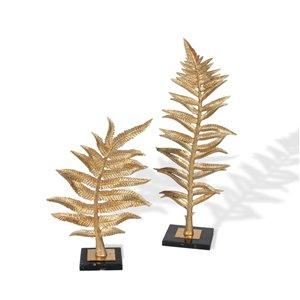 Gild Design House Gilded Fern I Leaf Sculpture - Gold - 6-in x 10-in x 25-in H