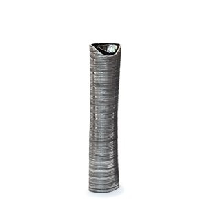 Gild Design House Yumi Ceramic Floor Vase - Small - Silver - 39-in