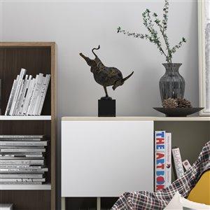 Gild Design House Manolo Decorative Bull - Antique Bronze - 10-in x 6-in x 4.5-in
