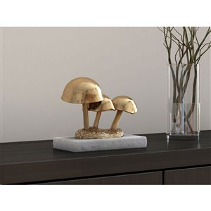 Gild Design House Golden Mushrooms - 4-in x 10-in x 7-in