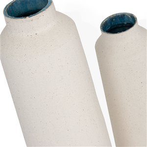 Gild Design House Jasper Ceramic Floor Vase - Large - White - 47-in
