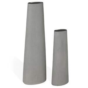 Gild Design House Taleb Ceramic Floor Vase - Large - Gray - 40-in